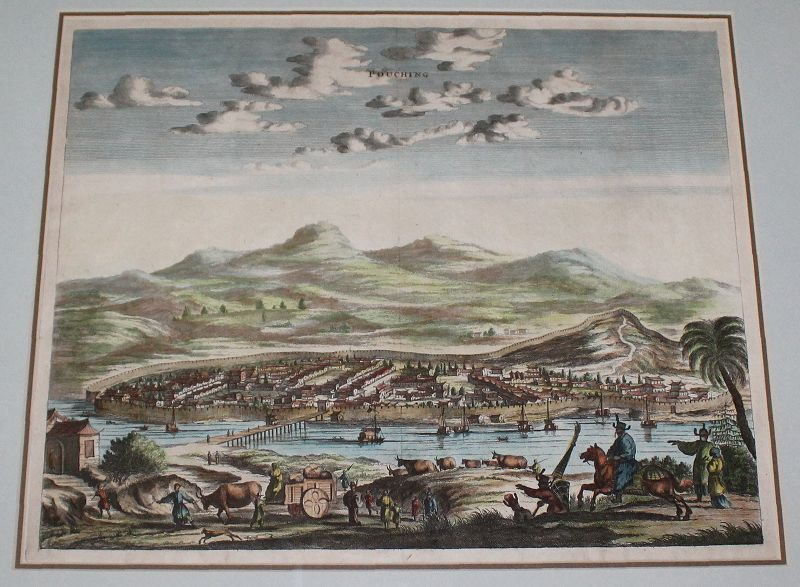 17th Century Copperplate Engraving Arnold Montanus Pouching, China